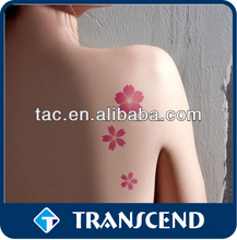 disposable temporary tattoo sticker/winter sweet tattoo sticker customed/Non-toxic Customized Water Transfer Body lip art tattoo