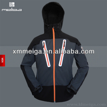 Mens' Fashion Black Softshell Jacket