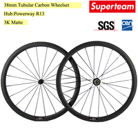 700C 23mm Width 38mm Depth Tubular Wheels Carbon Road Bike WheelSet