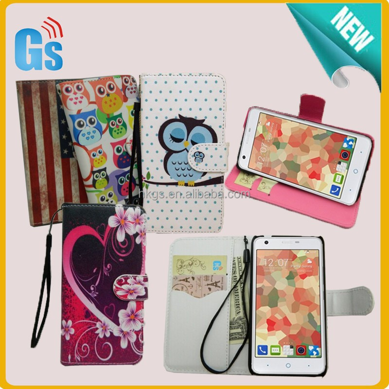 Best Trading Business Customized Printing Flower Wallet Leather Case For ZTE Green Yang 3 G719C Flip Cover