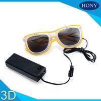 OEM Flip Style Plastic EL Wire Light Up Rave diffraction glasses
