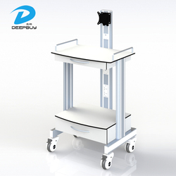 High Quality Safe Use Computer Mobile Hospital Medical Equipment Trolley