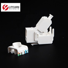 LY-KJ6-44 180 degrés UTP RJ45 connecteur Toolless CAT6 KEYSTONE JACK