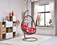 Park/Bedroom Hammock Swing bamboo hanging chair with Iron Steel Stand Base Double Seats egg chair