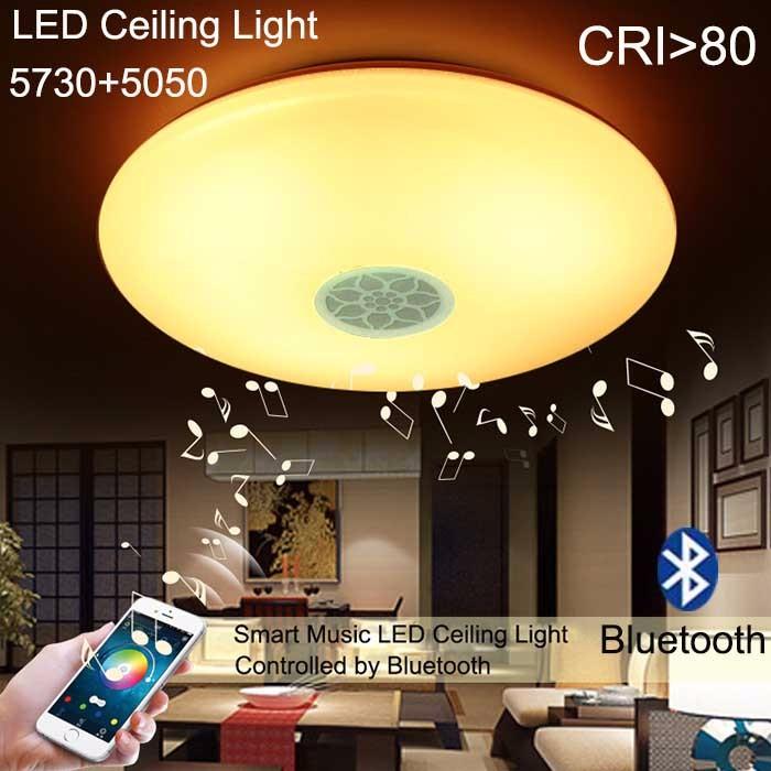 High CRI LED Ceiling Light 40W 110-240V Music Smart Ceiling Lamp Bluetooth Speaker Music Light