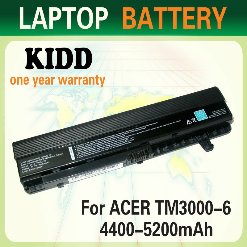 6Cell li-ion laptop battery For Acer Aspire TM 3000 TM3010 TM3020 TM3030