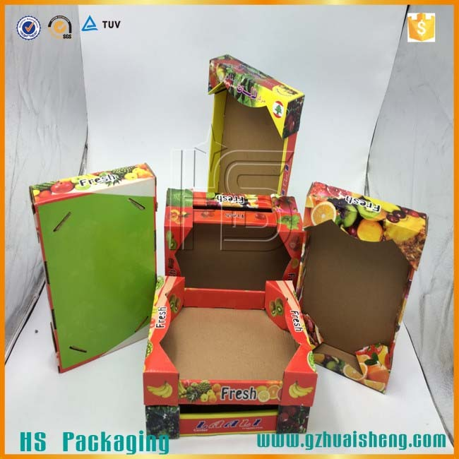 2016 China Factory Wholesale Price Best Quality Colourful Lettuce Packaging Corrugated Box