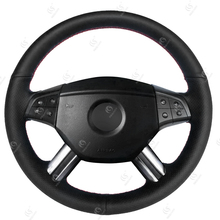 Hot Sale Custom Hand Sewing Unique Steering Wheel Covers for Mercedes Benz M-Class ML350 ML500 2005 2006 GL-Class GL450 2006-200