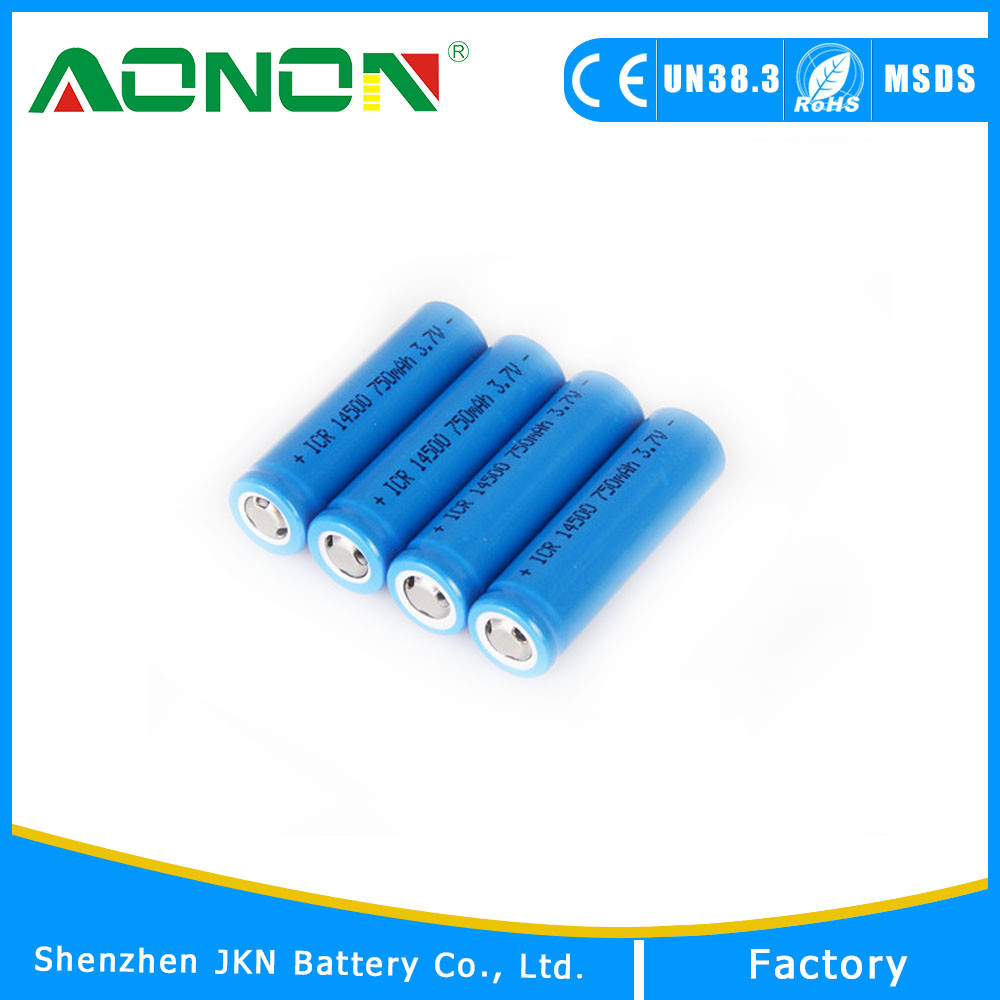 3.7v icr 14500 li-ion rechargeable 14500 battery