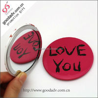Hot sale cheap small gift girl makeup mirror/decorative mirrors/pocket mirror