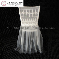 2017 New Fashion Embroidered Lace Chiavari Chair Cover With Tutu Sash 20PCS With Free Shipping Price