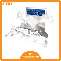 acrylic watch display holder wrist watch display showcase