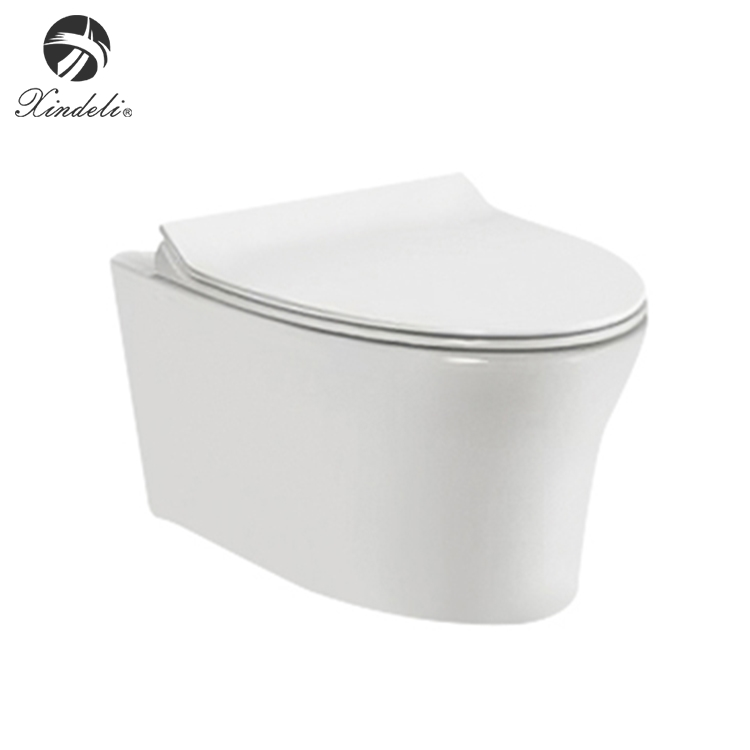 Chinese modern design ceramic white wall hung toilet with concealed tank