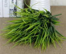 wholesale artificial onion grass plastic green plant for decoration