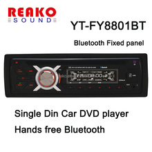 1Din FIXED panel Car stereo system Hands-free Bluetooth Car DVD player 12V