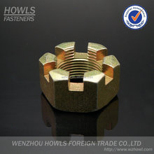 hexagon slotted nut / nut-castle / slotted countersunk nut