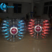 High Quality Fluorescence Bumper Ball /Inflatable Bubble Futbol/Loopyball Soccer