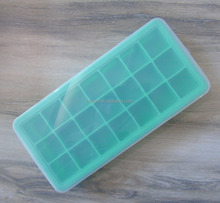 Factory price FDA approval silicone 21 ice cube tray with lid