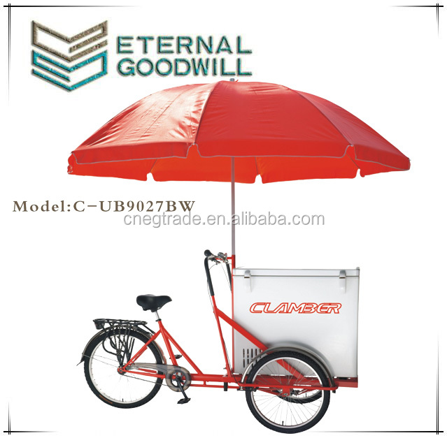 3 wheels trikes single speed bikes ice cream bicycle tricycle cargobike/cargo bike/bicycles/bisiklet UB-9027BW wholesale china