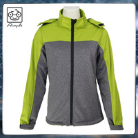 Colorful waterproof running winter softshell jackets for women