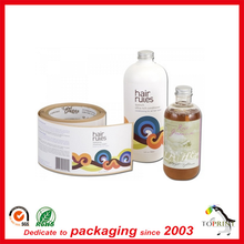 cosmetics label synthetic paper sticker customized printing manufacturer