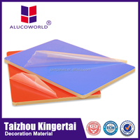 Alucoworld wall board outside aluminum composite sheet light weight precast decorative wall panels