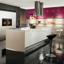 Modern Pink Lacquer Indian Kitchen Designs DJ-K294