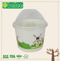 high quality ice cream paper bowls with custom logo printed