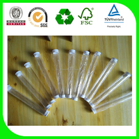 transparent plastic tube 50um thickness pvc plastic tube packaging with 2caps