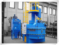 high qulity automatic turntable shot sand blasting machine