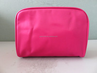 Red Polyester Cosmetic Bag / Makeup Case / Makeup Organizer