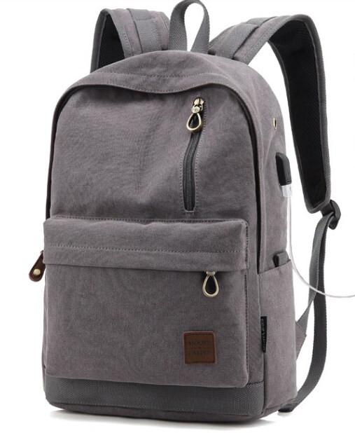 Soft Touch 16oz Washed Men Canvas Backpack
