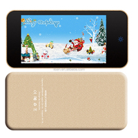 Hot selling mirror panel 6000mAh advertising portable battery power pack