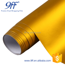 Best Quality Matte Satin Chrome Gold Metallic Vinyl Wrap Film Bubble Free For Car Wrapping 1.52m*20m