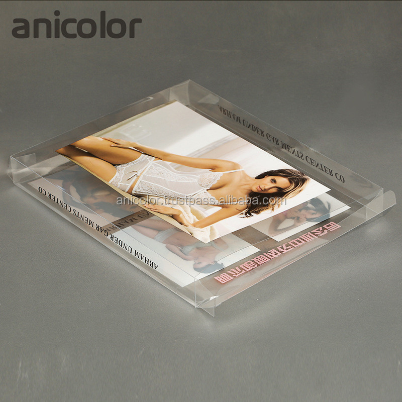 Custom Clear Plastic Garment Packaging Box