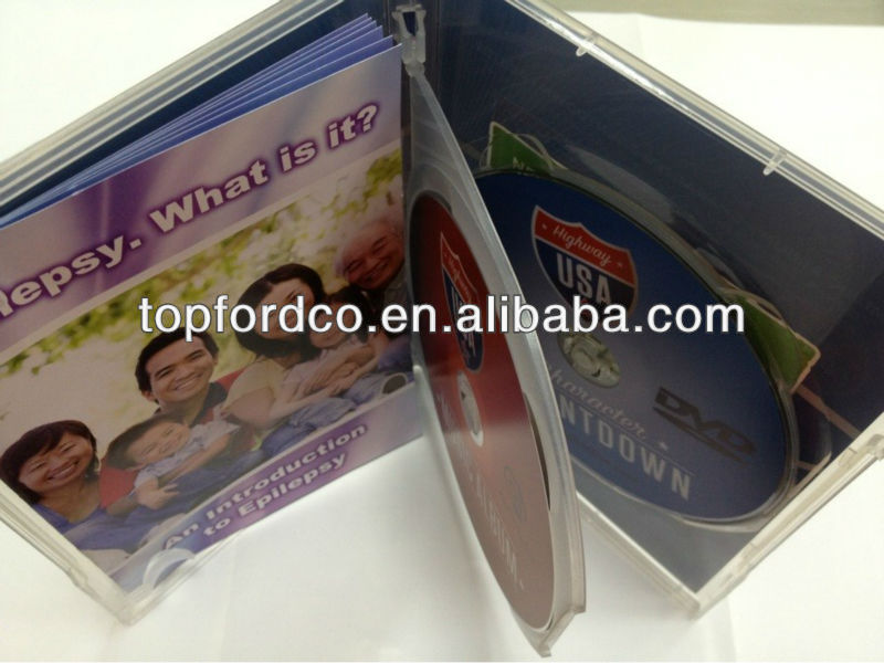 Music CD,CD replication making with 14 mm double case