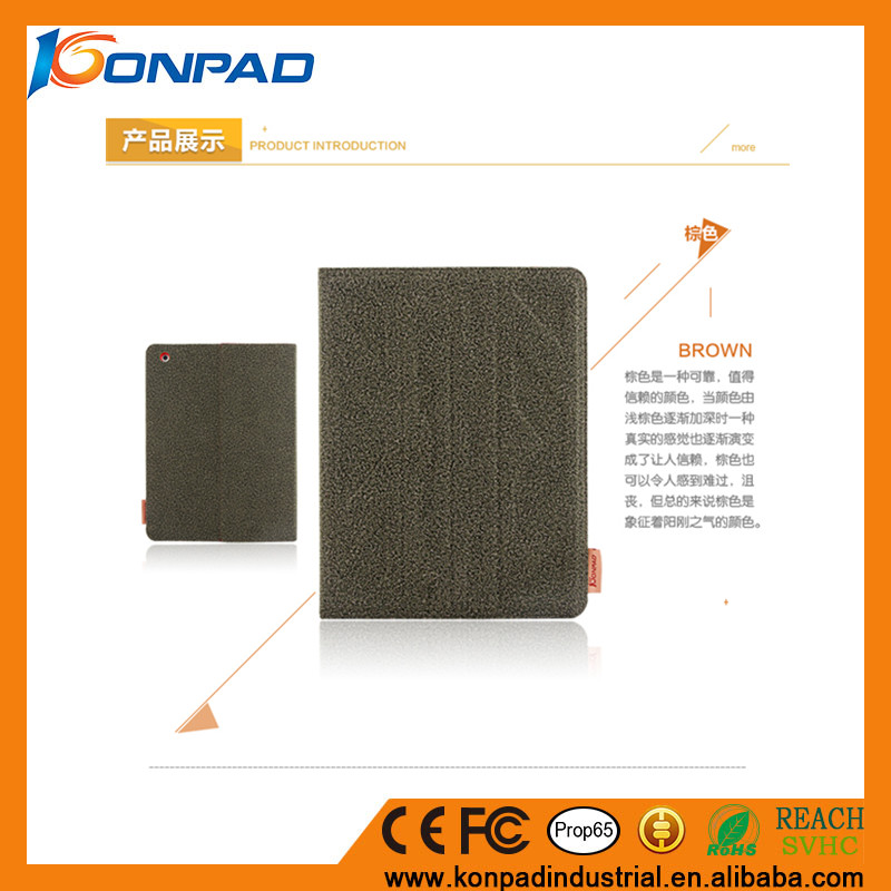 Hot selling Konpad Cotton cloth kicktand Phone Case for iPad 2/3/4/air/air 2 / pro 9.7 with slot card phone accessories case