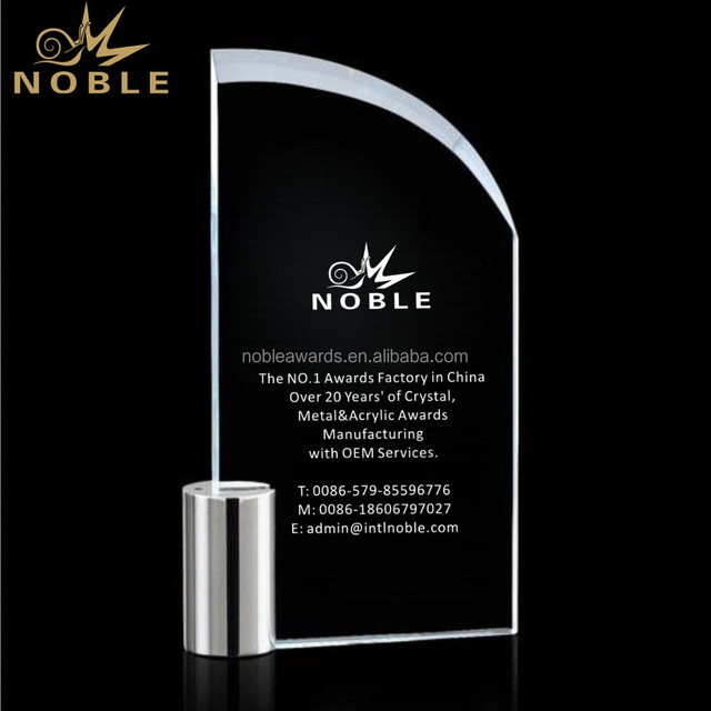 Noble Kingsford Crystal Plaque Awards and Trophies
