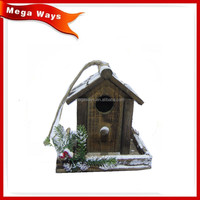 Newly design christmas wood decorative bird house