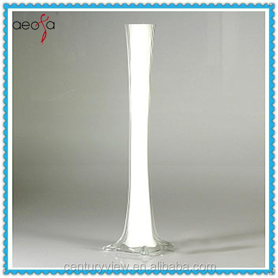 Wholesale Tall White Eiffel Tower Glass Vase For Flower