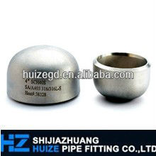 sch 80s b16.9 good quality stainless steel pipe cap