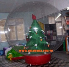 inflatable sphere with tree, christmas globe