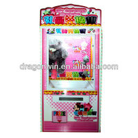 Click Me! 2014 Hot simulator toy crane game machine/single claw gift exchange machine