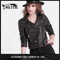 sexy hot girl Wholesale leather jackets for women guangzhou manufacture leather jacket motorcycle woman coat