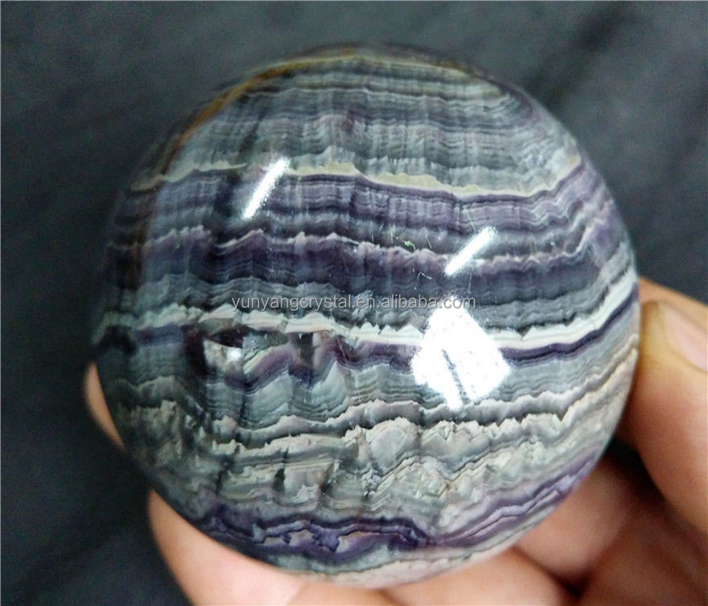 Natural and good quality fluorite stone crystal ball handmade stone ball carving for decoration
