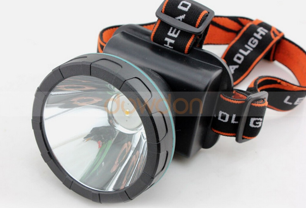 Waterproof 3 LED Headlight Rechargeable Lithium Battery Outdoor Hunting Fishing Headlamp