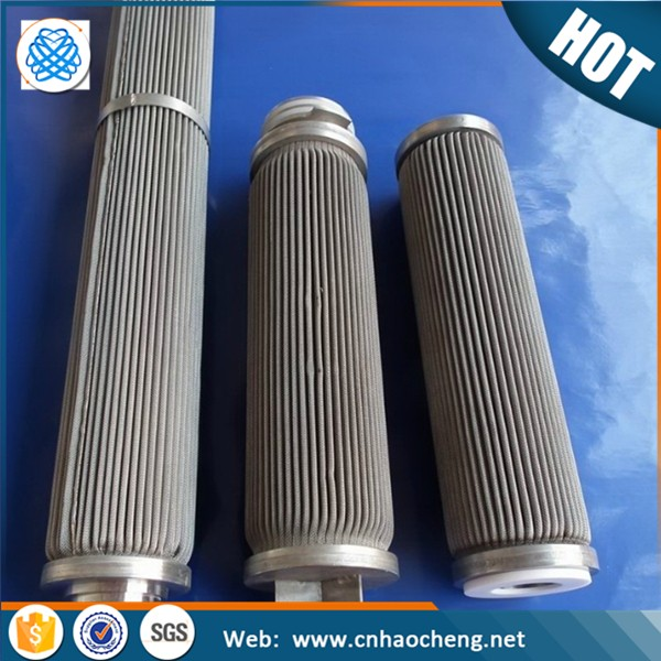 Corrosion resistance 3 Layers hastolly Folded Filter tube Pleated for Glass Fiber Filter Media