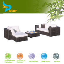 PNT-E-675 Anhui Partner Waterproof Synthetic Rattan Weaving Material Outdoor Furniture