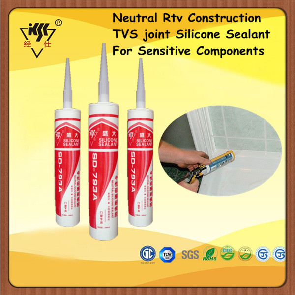 Neutral Rtv Construction TVS joint Silicone Sealant For Sensitive Components