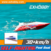 High speed Hull width 0.1M red rc fire boat 796-1